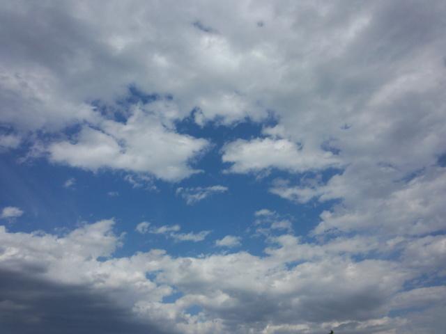 八王子の青空と雲