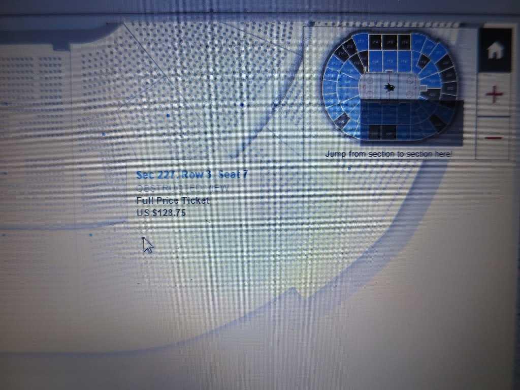 SAPセンター・アット・サンノゼの座席表