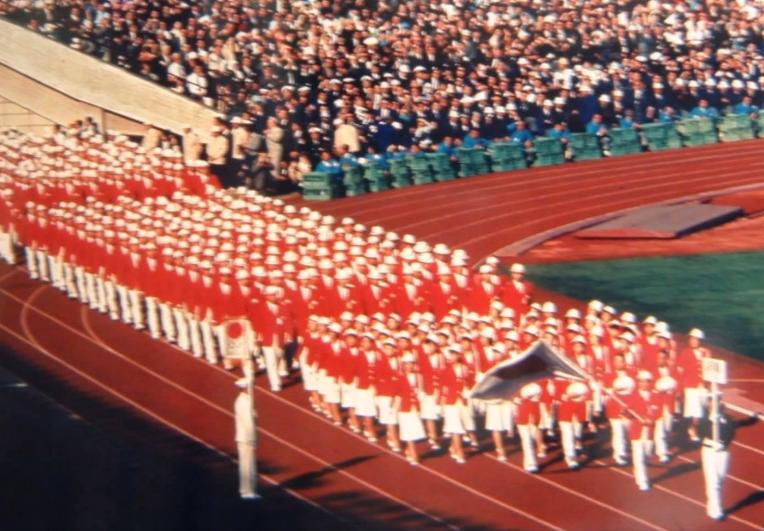 1964年 第1回東京オリンピック 日本選手団入場シーン