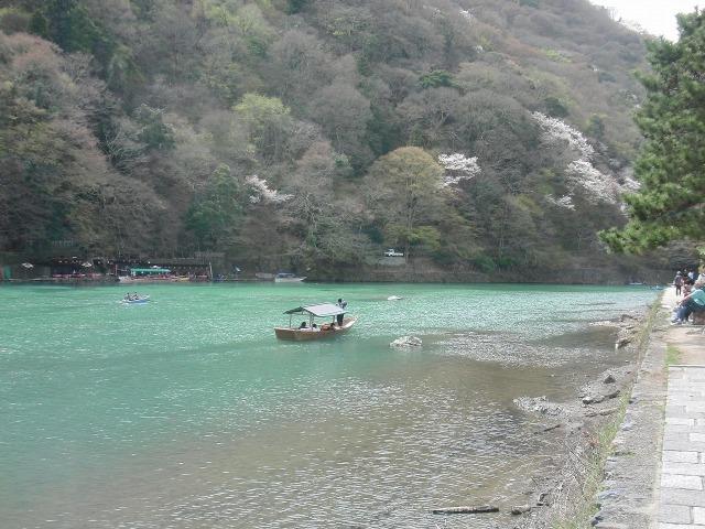 桂川の遊覧船