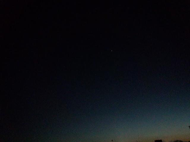 黄昏時の八王子の空
