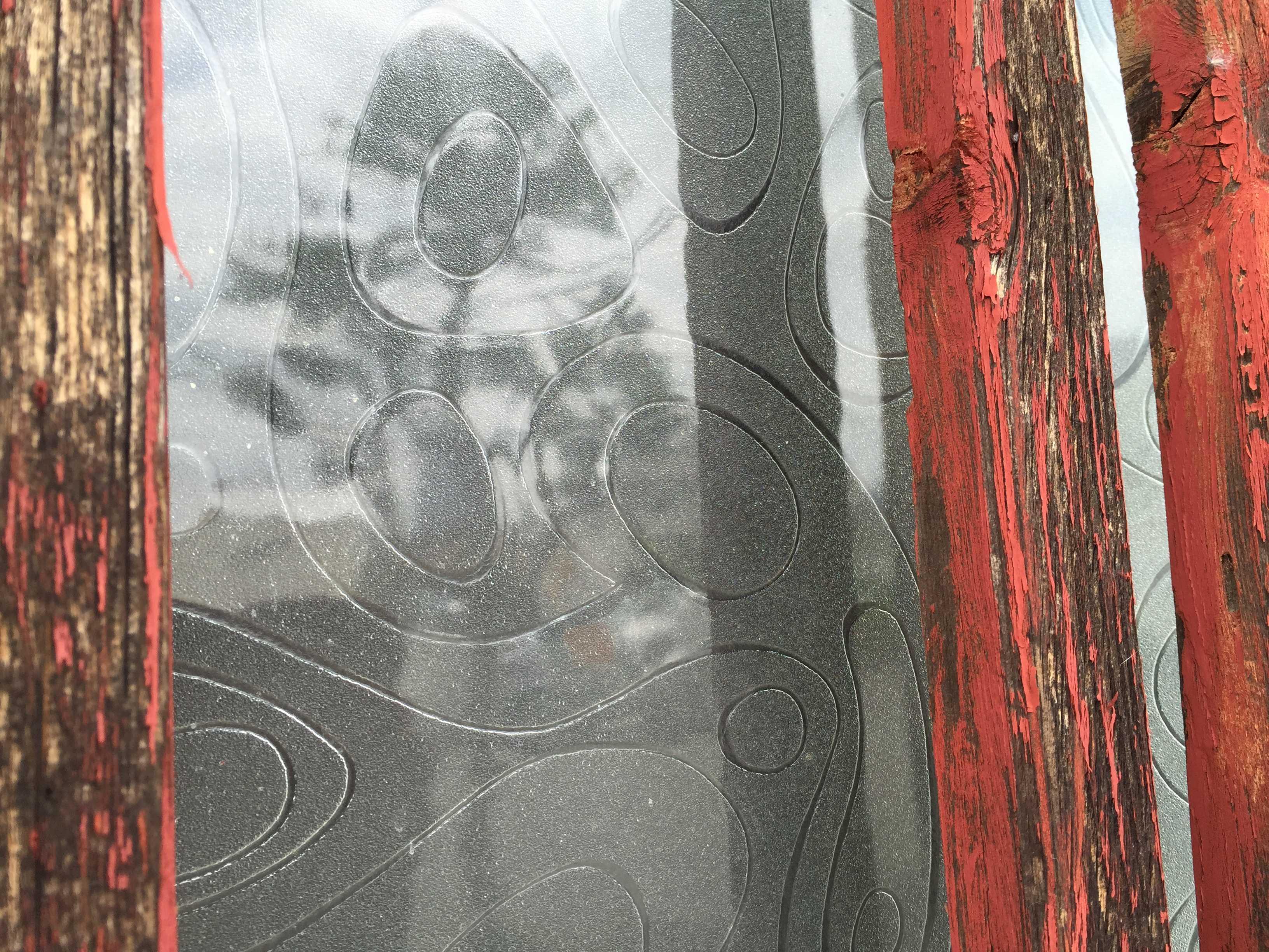 八王子の田町遊郭跡 幾何学模様のガラス