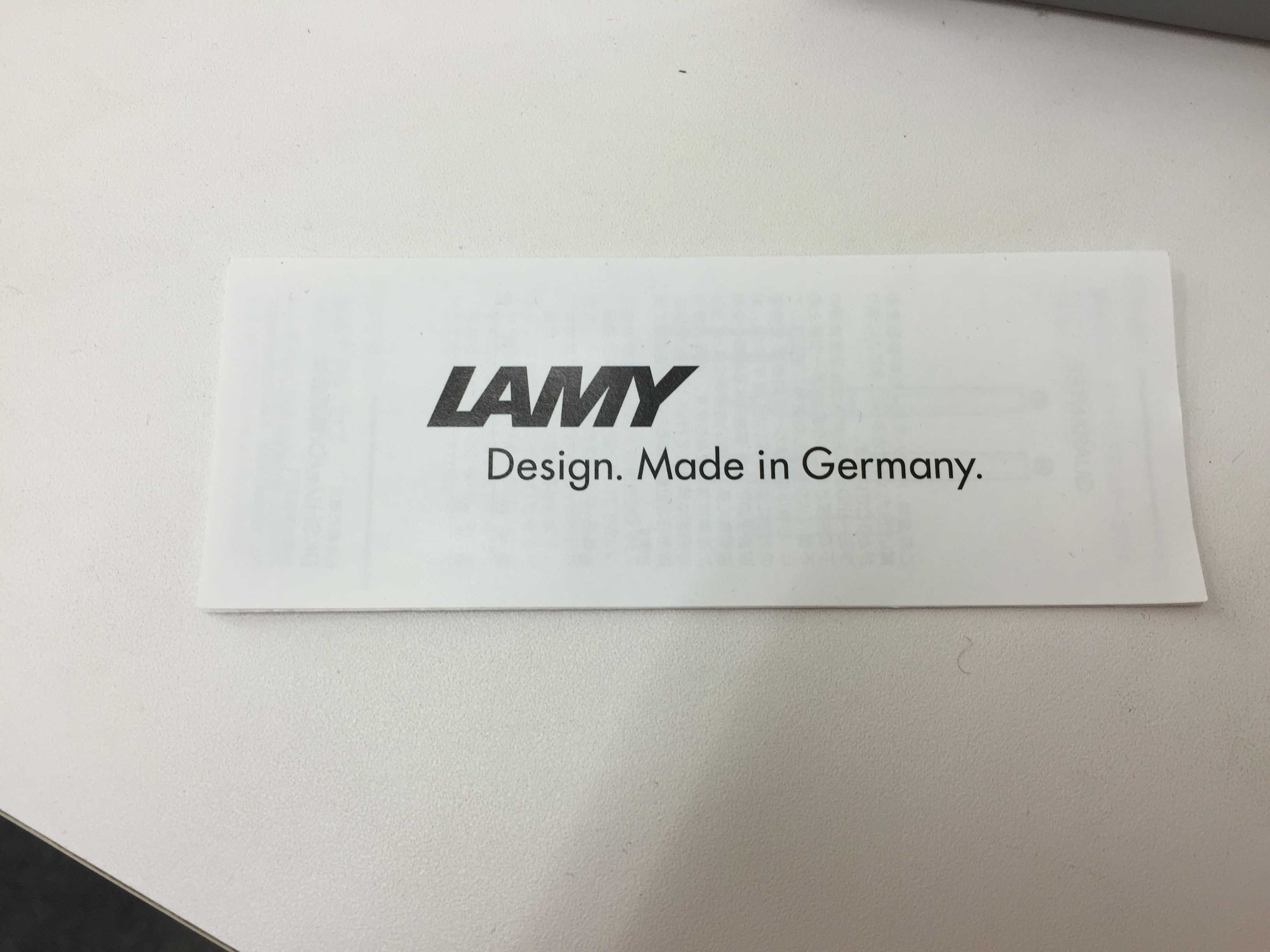 LAMY Design. Made in Germany.