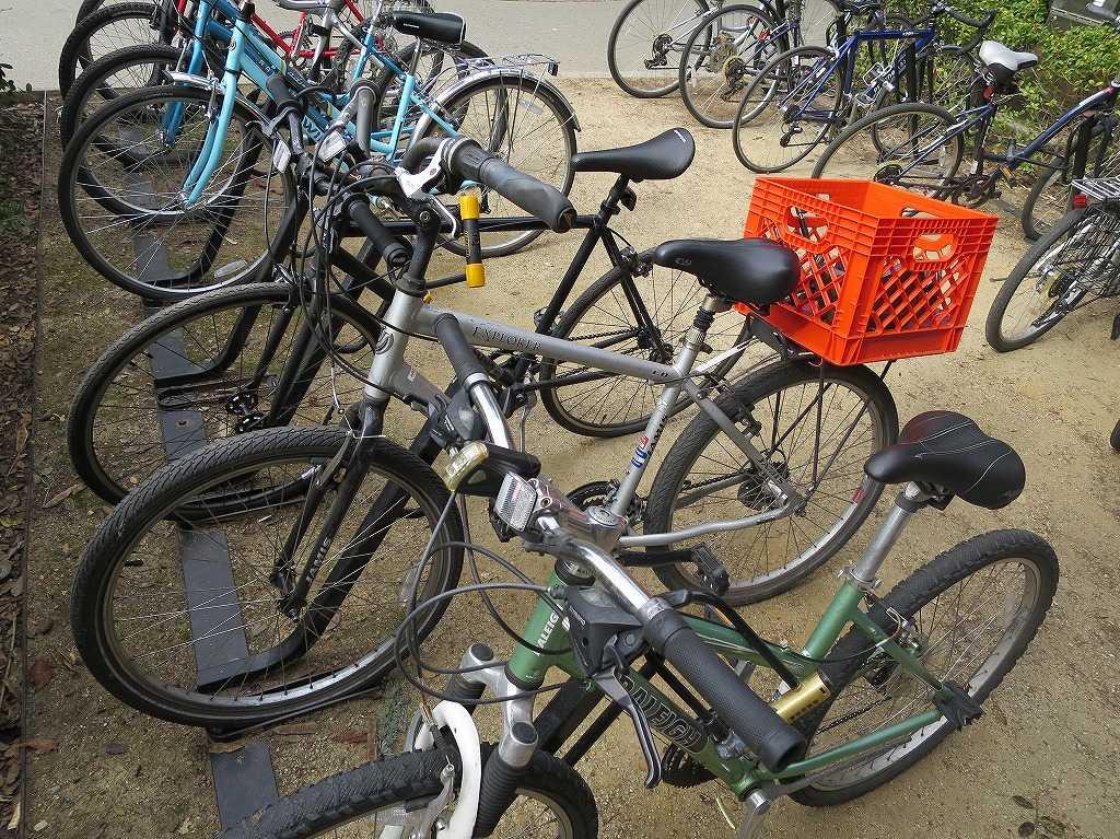 スタンフォード大学 - カゴを後にくくりつけた自転車