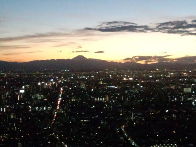 新宿から見た夕焼け
