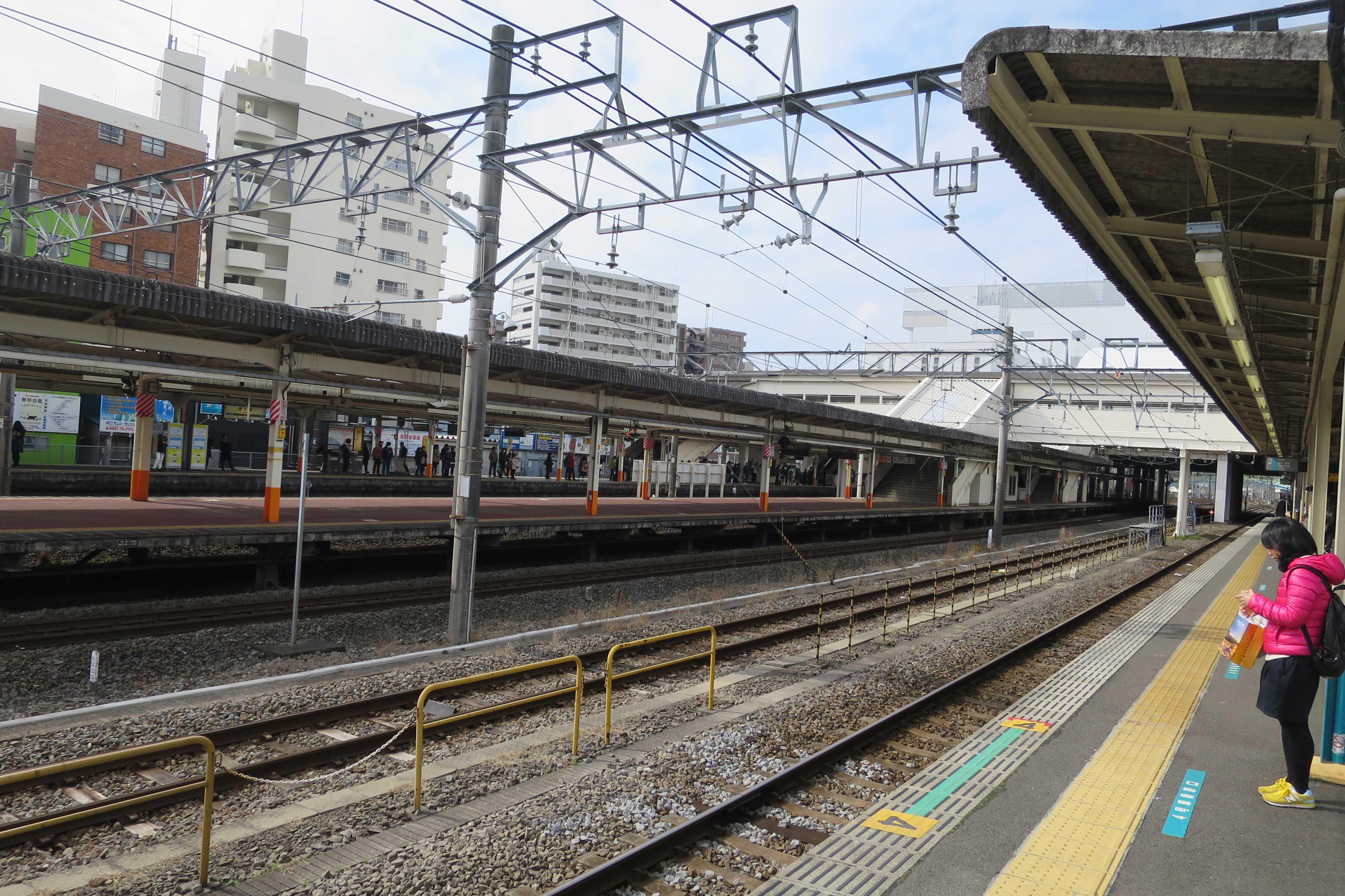 JR茅ヶ崎駅のホーム