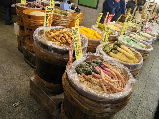 錦市場の日の菜漬け