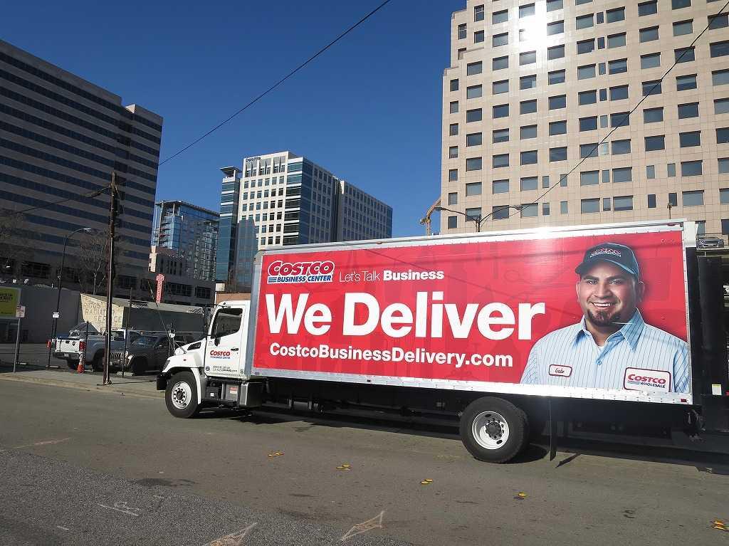 コストコビジネスデリバリーの配達トラック「We Deliver」