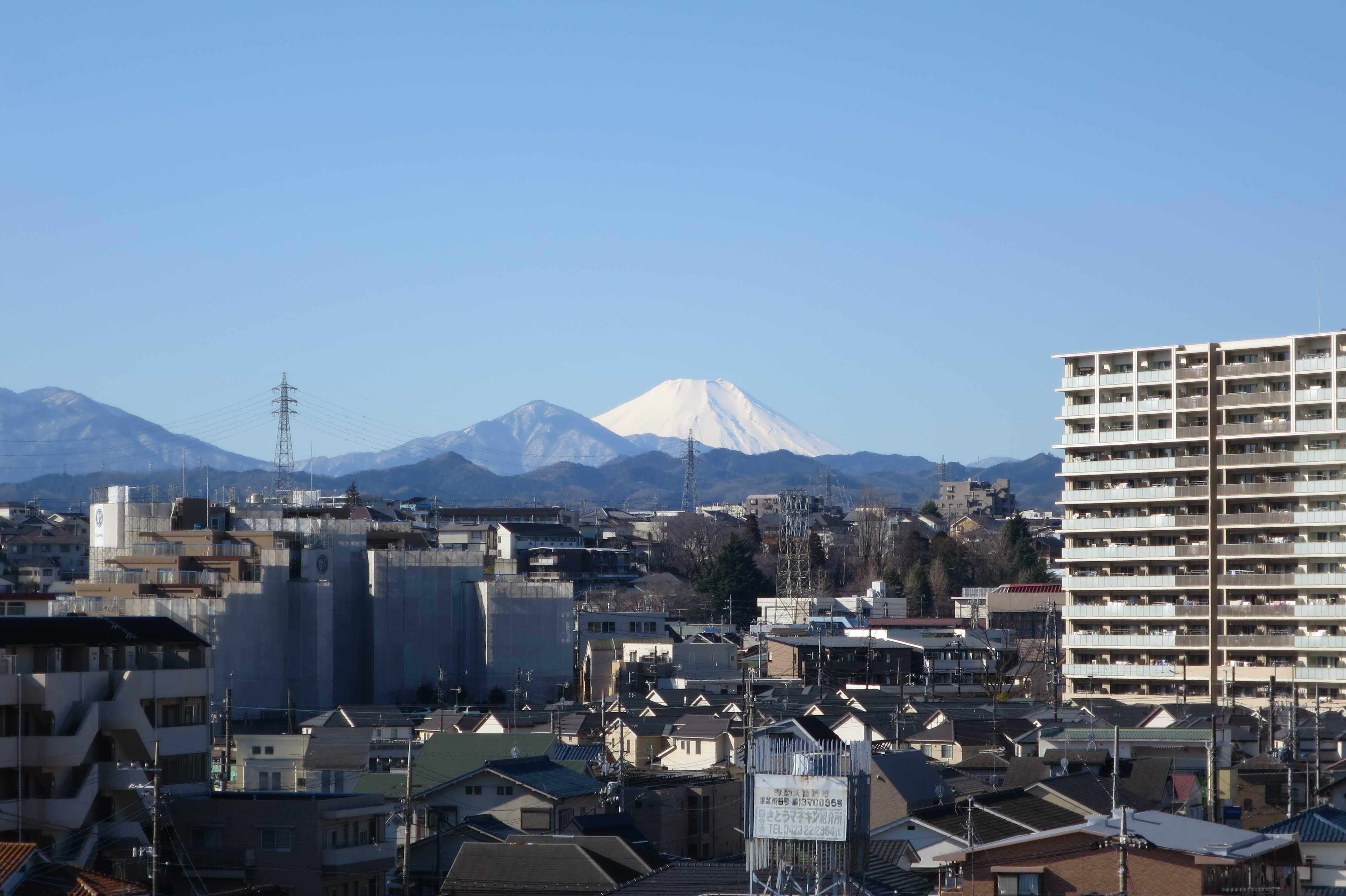 富士山が見える展望ポイント(絶景ビューポイント) - 八王子市ルームズ大正堂