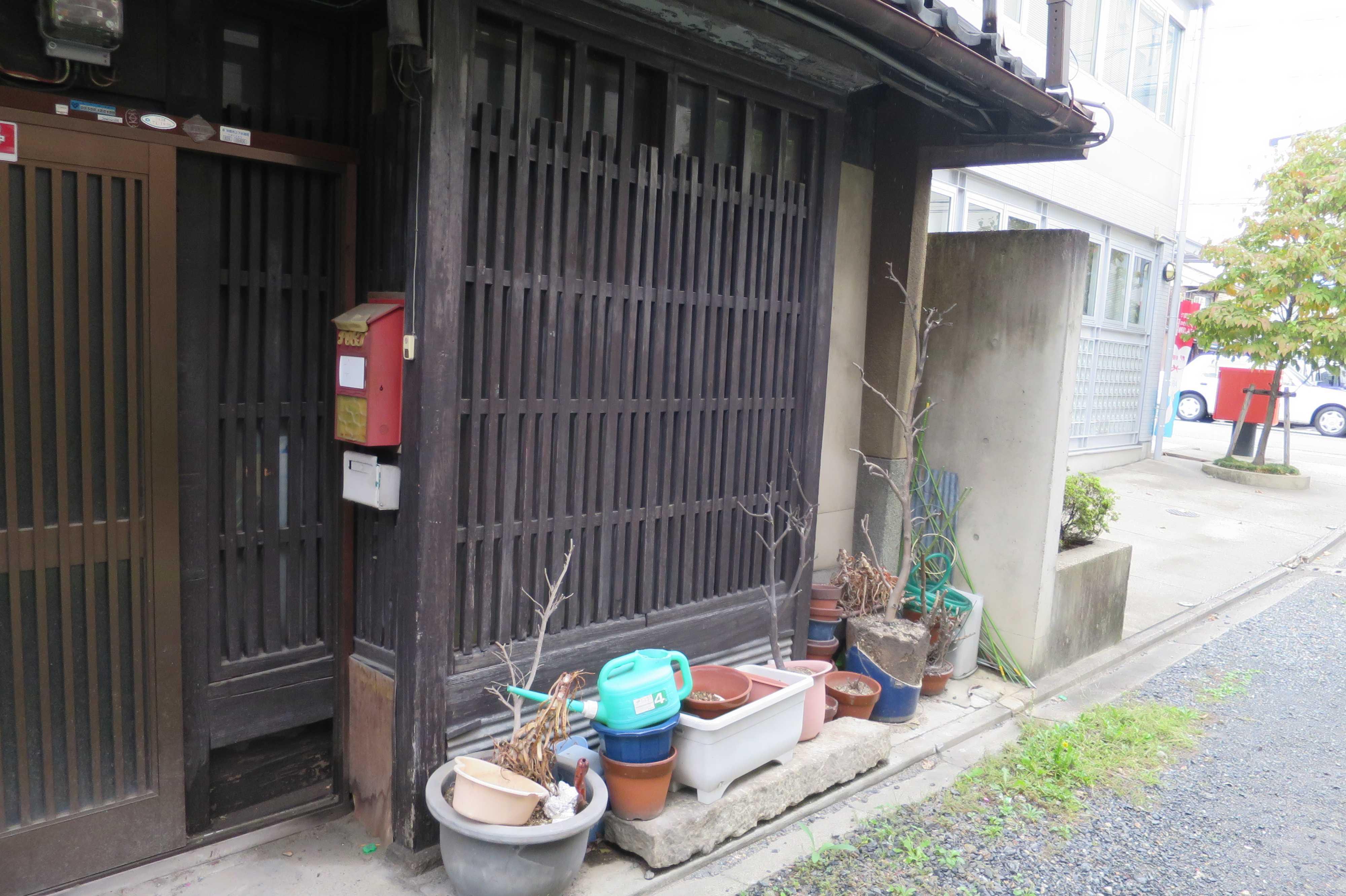 京都 - 町屋の表格子