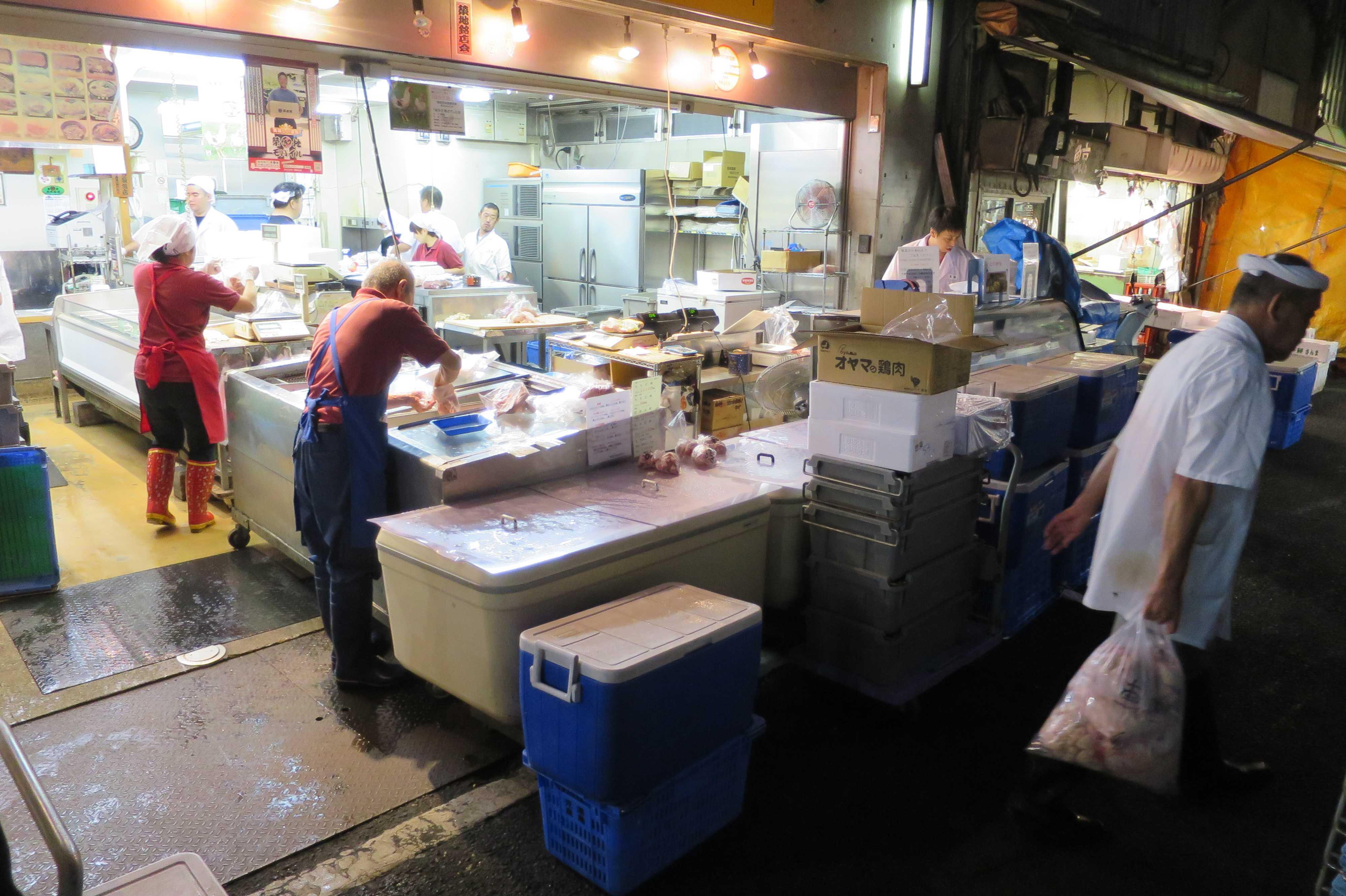 築地場外市場 - 魚屋さん