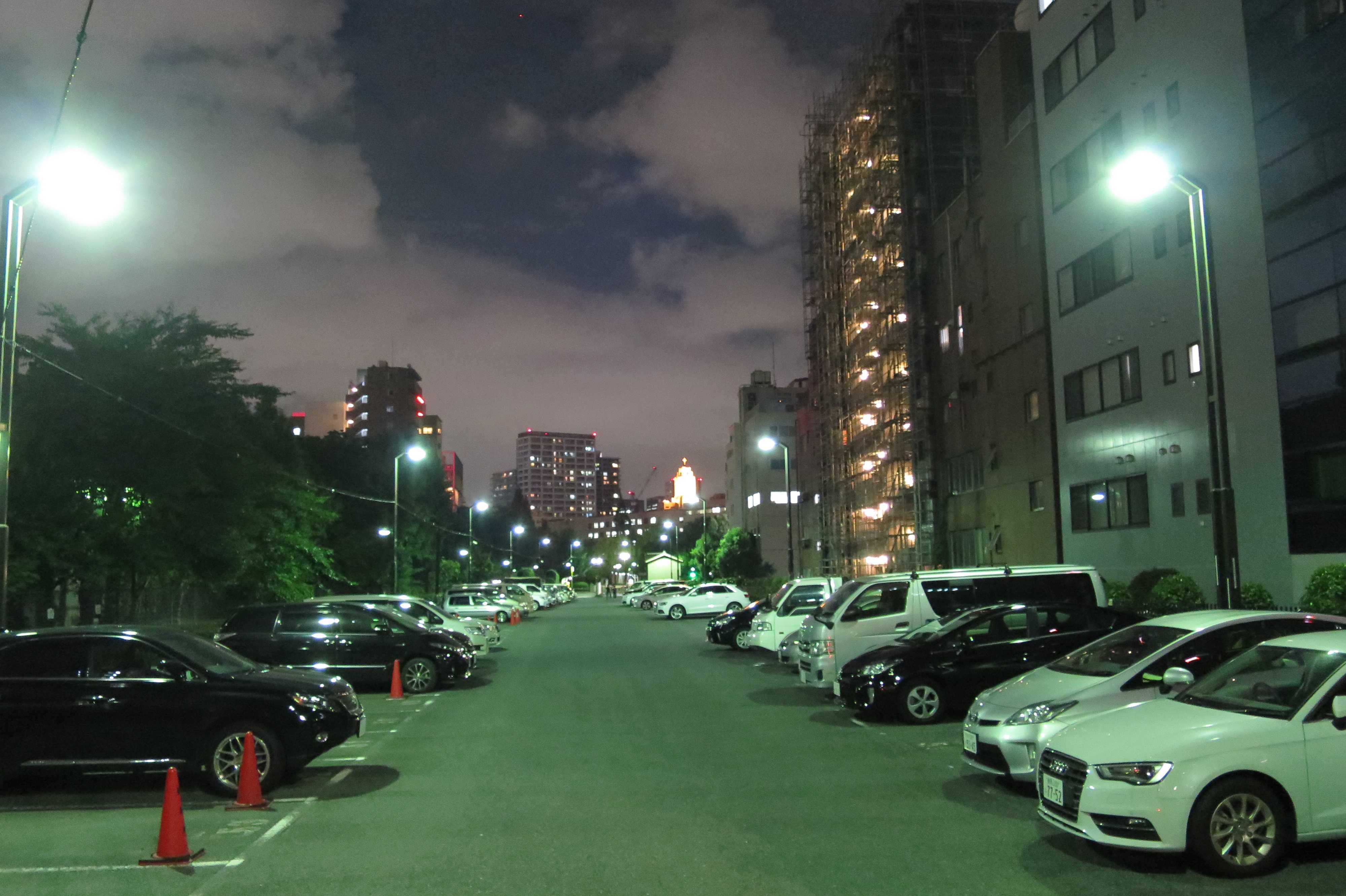 築地エリア - 築地の街から見えた聖路加国際病院