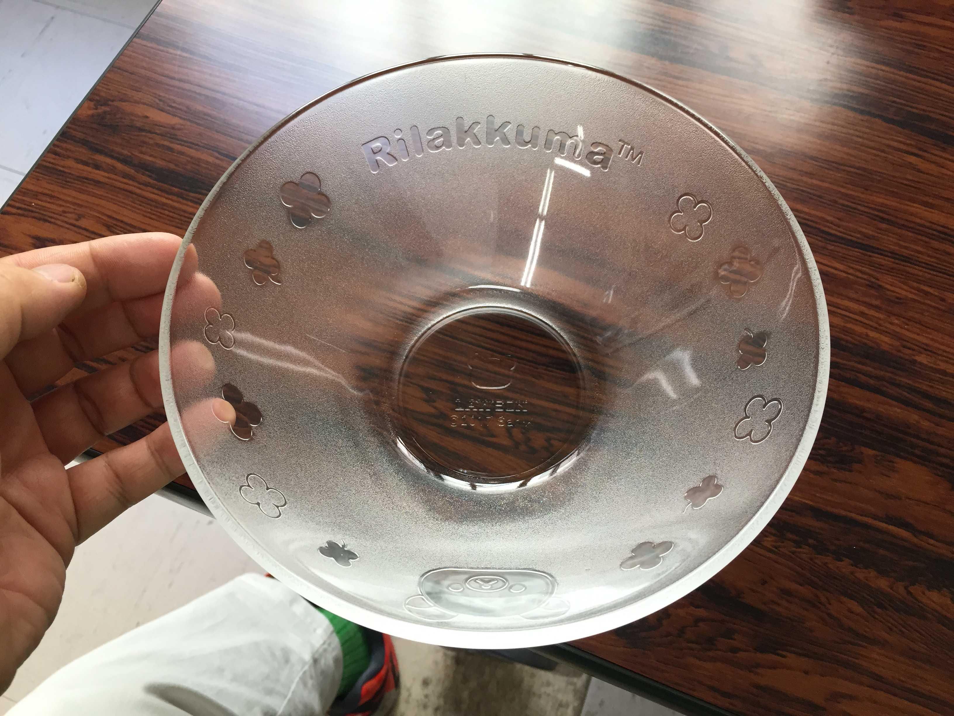 リラックマフェアのガラスの器