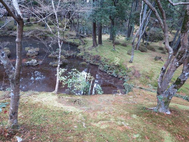 苔寺(西芳寺)の池泉回遊式庭園