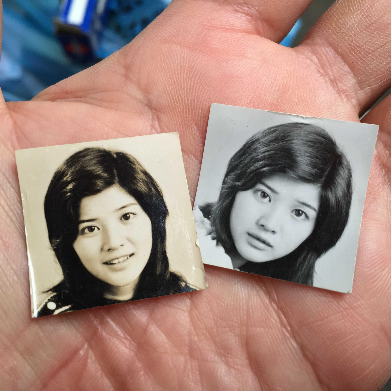 桜田淳子の白黒のブロマイド