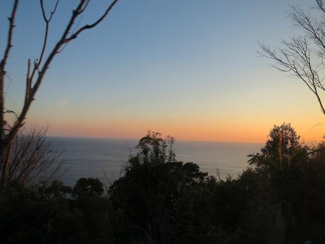 高知の夕方の海