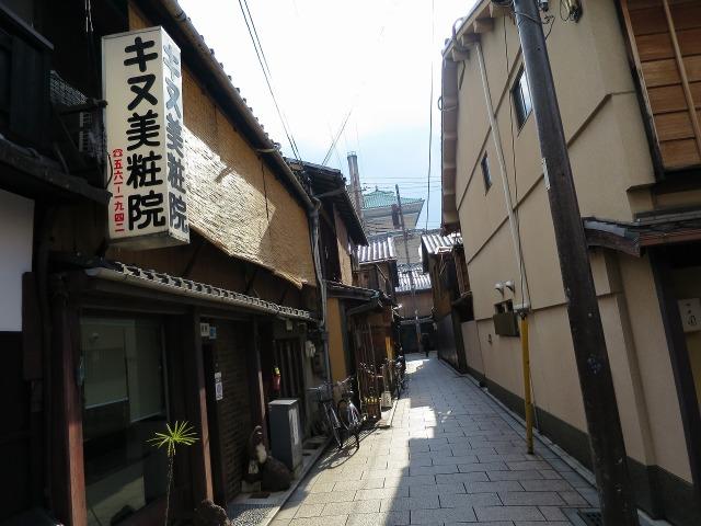 祇園の狭い路地