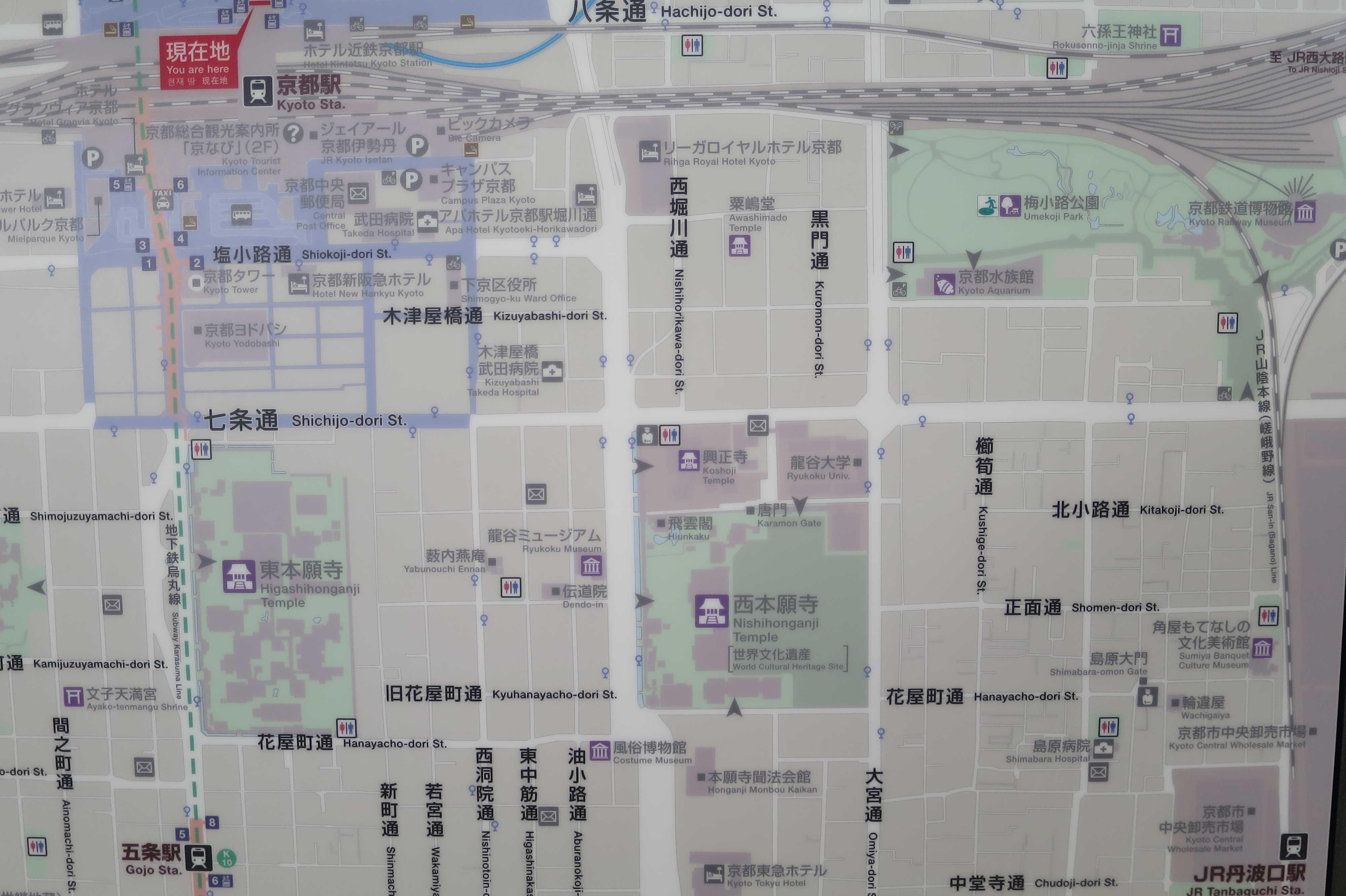 JR京都駅八条口の地図