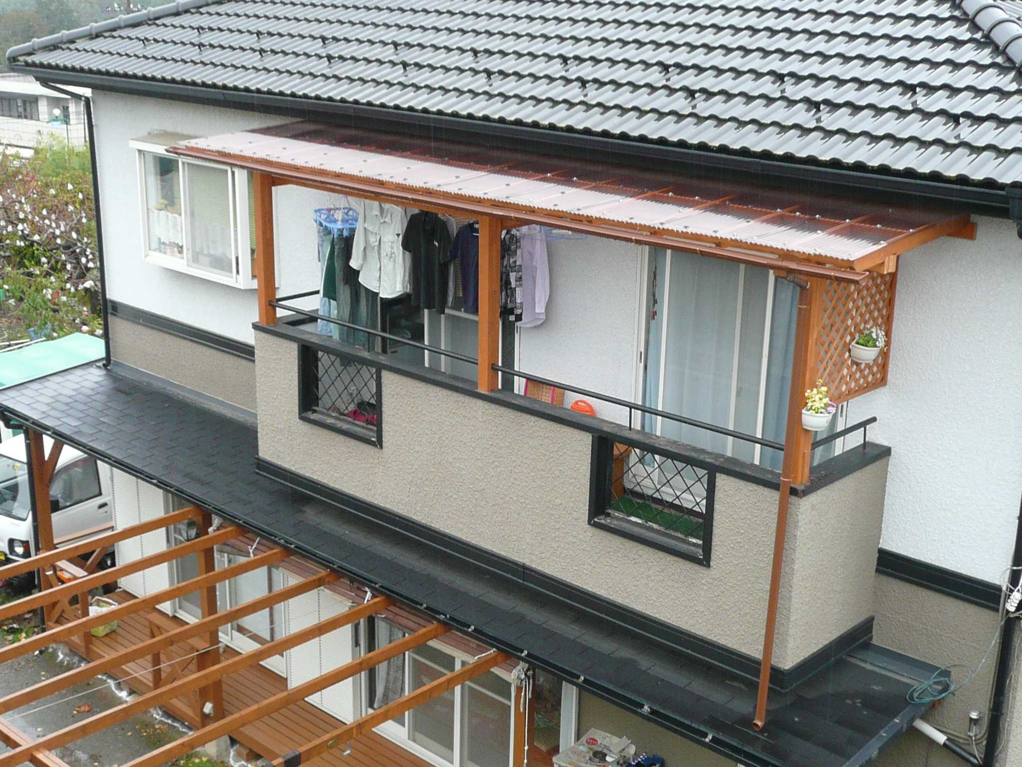 屋根 diy ベランダ