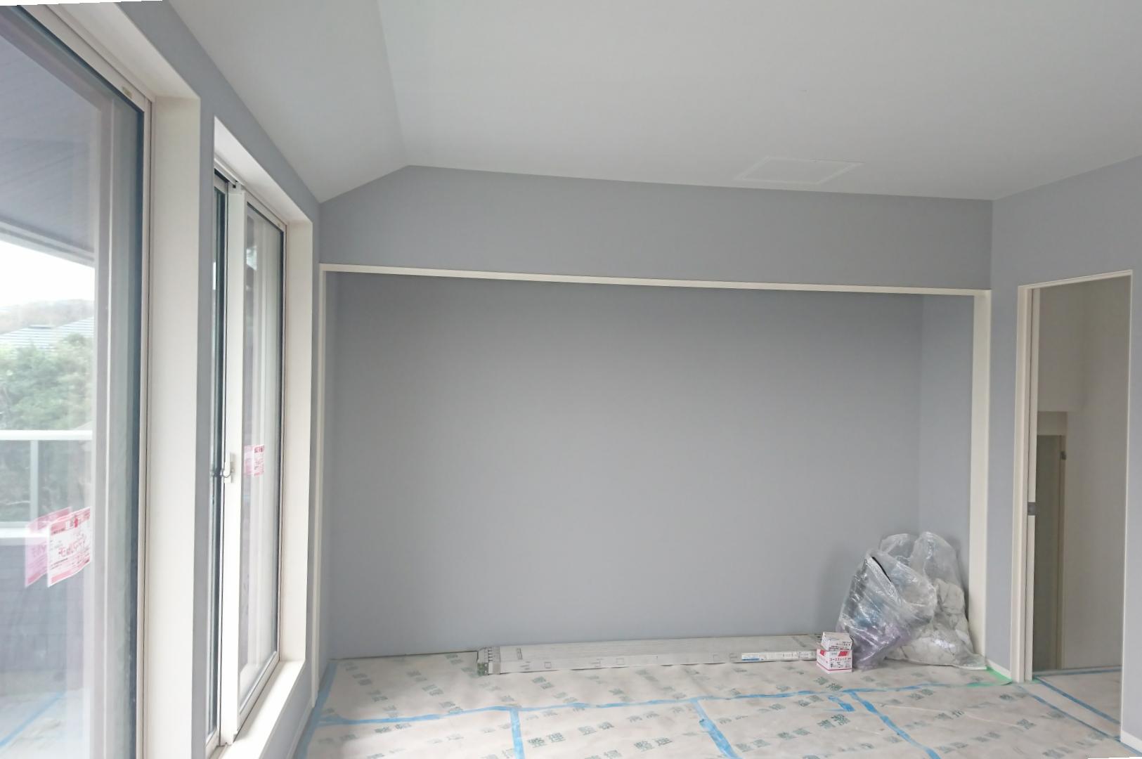 我が部屋の壁紙完了 横浜にミサワホームを建てた