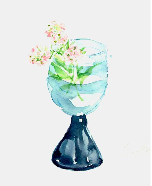 グラス,高塚由子_Yoshiko,Taaktsuka,水彩画,イラスト
