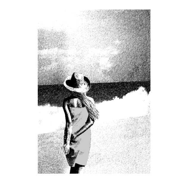 仕事絵,初夏,波,砂浜,夏日,高塚由子,Yoshiko,Taaktsuka,イラスト