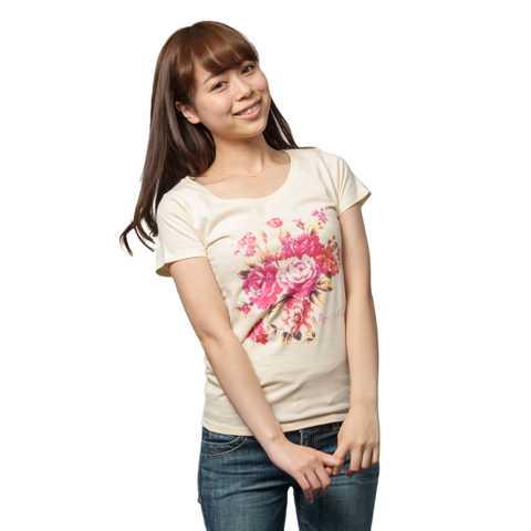 薔薇,バラ,Tシャツ