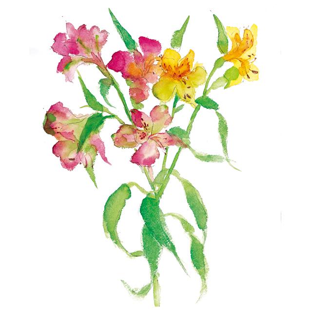 花,春,植物,水彩画,イラスト,素材