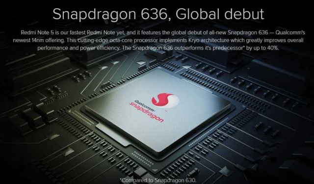 Snapdragon 636 Octa-Coreプロセッサーを搭載