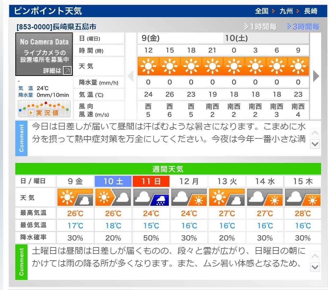 あたる 天気 予報